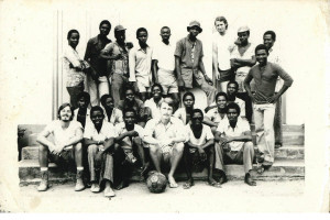Matt (Bottom, Left) during his time in Ghana.